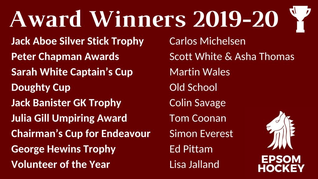 Epsom Hockey Club Awards 2019-20
