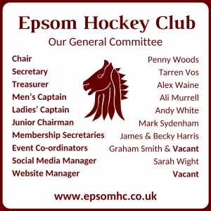 Epsom Hockey Club General Committee 2020-21