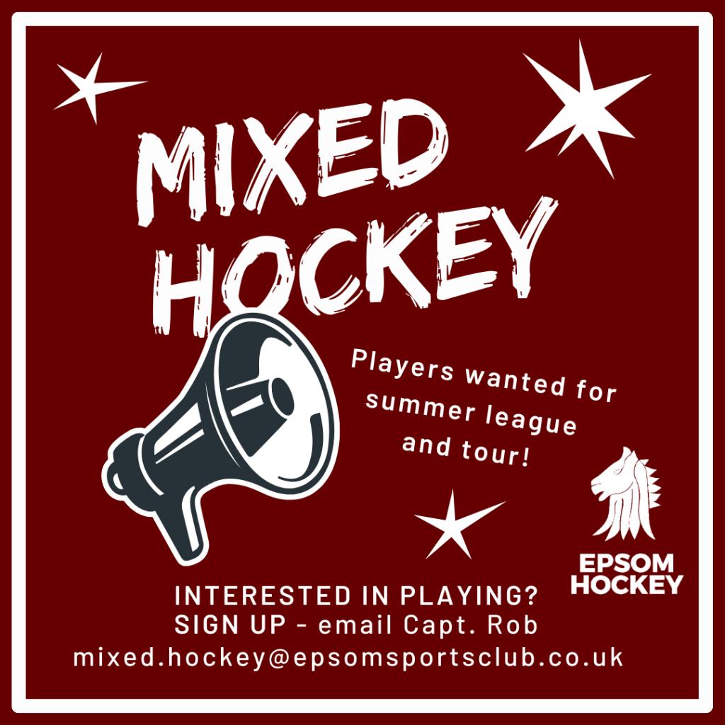 Summer Hockey Leagues at Epsom Hockey Club