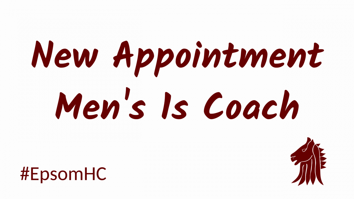 Welcome to Jamie O'Connell our new Men's 1s Coach at Epsom HC