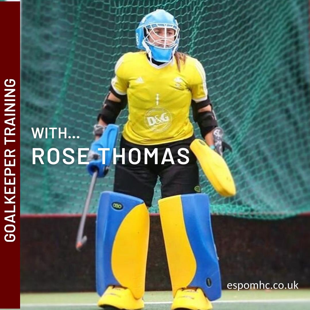 Goalie Training at Epsom HC with Rose Thomas Welsh International