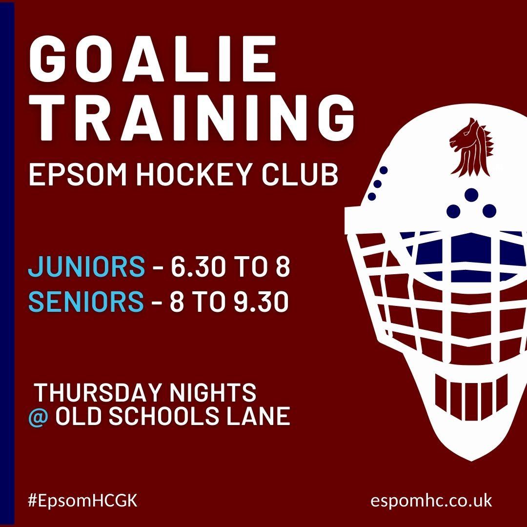 Goalie training with Welsh International Rose Thomas at Epsom HC